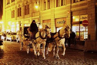 Prag, Tschechische Republik, Altstadt, Die Traumreiser, Pferdekutsche