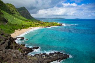 US 72, Kalaniana'Ole Highway, Oahu, Hawaii, USA, Strand, Die Traumreiser