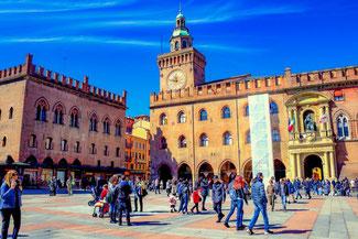 Bologna, Platz, Hauptplatz, Maggiore, Italien, Die Traumreiser