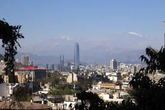 Cerro Santa Lucia, Hügel, Aussicht, Santiago de Chile, Südamerika, Chile, Die Traumreiser