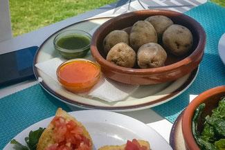 Teneriffa, Kanarische Inseln, Die Traumreiser, Essen, Runzelkartoffeln