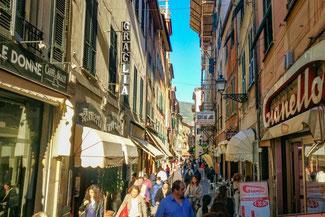Italien, Italienische Riviera, Rapallo, Fußgängerzone, Die Traumreiser