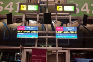 Flug, Iberia, Madrid, Santuago, Santiago de Chile, Südamerika, Chile, Die Traumreiser