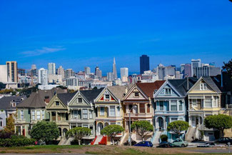 Painted Ladies, San Francisco, Kalifornien, USA