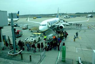 Flughafen Stansted, London, Ryanair, Abflug, Die Traumreiser