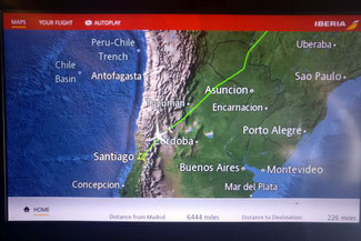 FLug, Madrid, Santiago de Chile, Südamerika, Chile, Die Traumreiser
