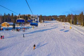 Lappland, Finnland, Finnisch Lappland, Die Traumreiser, Levi, Skifahren, Skigebiet