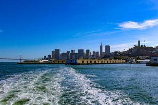 Fähre, Gefängnis, Boot, Insel, San Francisco, Kalifornien, USA