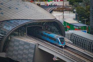 Dubai, VAE, UAE, Vereinigte Arabischen Emirate, Die Traumreiser, Metro, Bahnhof