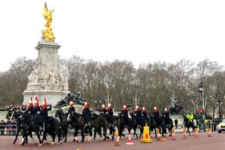 Buckingham Palace, Wächter, Wachwechsel, Pferde, Die Traumreiser