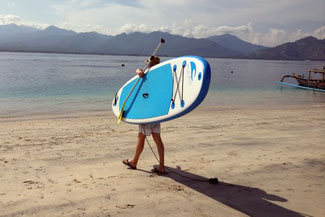 Los gehts mit dem Stand-Up Paddleboard