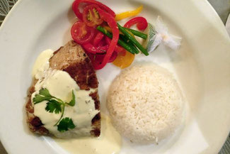 Mahi-Mahi mit Reis und Gemüse
