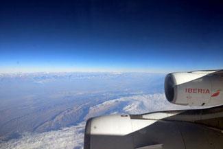 Anden, Landeanflug, Santiago de Chile, Iberia, Die Traumreiser