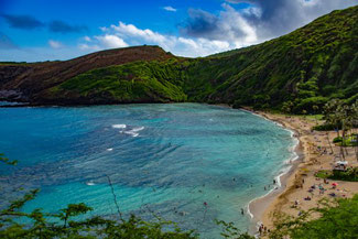Hanauma Bay, Oahu, Hawaii, USA, Strand, Die Traumreiser, Schnorcheln