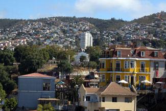 Hügel, Cerros, Valparaiso, Südamerika, Chile, Die Traumreiser