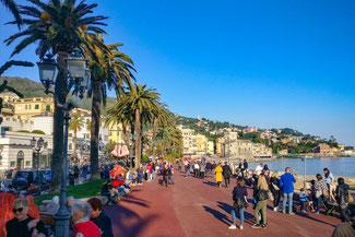 Italien, Italienische Riviera, Rapallo, Uferpromenade, Die Traumreiser