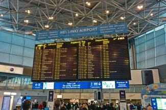 FLughanfen, Helsinki, Helsinki Airport, Anzeigetafel, Die Traumreiser