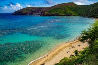 Hanauma Bay, Oahu, Hawaii, USA, Strand, Die Traumreiser, Schnorcheln