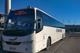 Finnair Bus, Helsinki Airport, Flughafen, Die Traumreiser