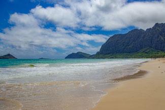 Sherwood Beach, Strand, Oahu, Hawaii, USA, Strand, Die Traumreiser