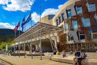 Parlament, House of Parliament, Edinburgh, Schottland, Die Traumreiser