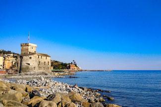 Italien, Italienische Riviera, Rapallo, Festung, Castello, Die Traumreiser