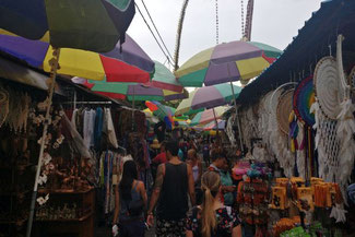 Marktstraße in Ubud