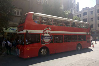 Bus, Bustour, Sightseeing, Santiago de Chile, Südamerika, Chile, Die Traumreiser