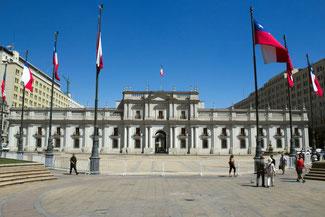 La Moneda, Präsidentenpalast, Palast, Santiago de Chile, Südamerika, Chile, Die Traumreiser