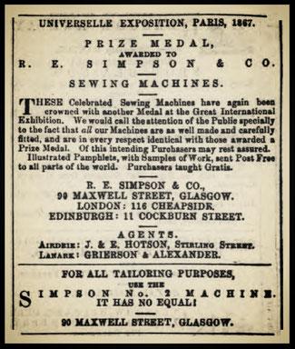 Paisley Herald and Renfrewshire Advertiser  16 Nov. 1867