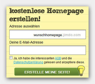 Homepagenamen wählen