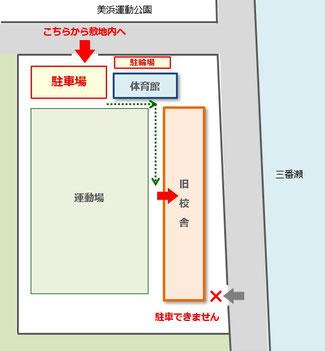 敷地内への出入口・館内への出入口