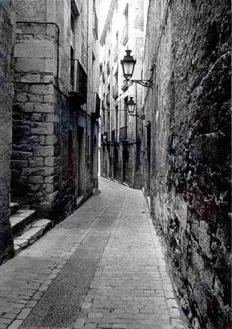 Carrer Força Vella (alte Aufnahme - Quelle: Archiu Municipal de Girona)