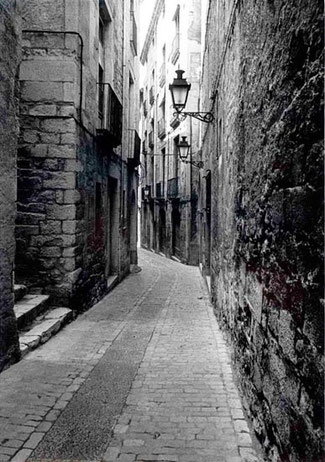 Carrer Força Vella (alte Aufnahme - Quelle: Arxiu Municipal de Girona)