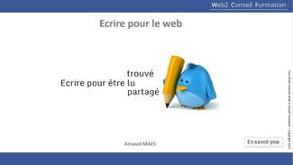 """formation """"Ecrire pour le web"""" du Cabinet Web 2 Conseil Formation"""