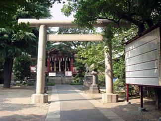青山熊野神社 鳥居
