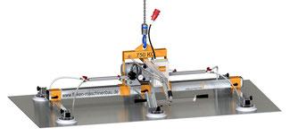 Finken Vakuumheber VH 6-750 für den horizontalen Transport von luftdichten Platten, 6 Saugnäpfe, Tragfähigkeit 750 Kg