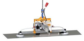 Finken Vakuumheber VH 2-250 für den horizontalen Transport von eigenstabilen Platten, 2 Sauger, Traglast 250 Kg