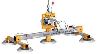 Finken universal-Vakuumheber VH 5-500-2500, Einzelsauger oder ganze Traversen adaptierbar, Tragfähigkeit und Größe sind somit flexibel wählbar