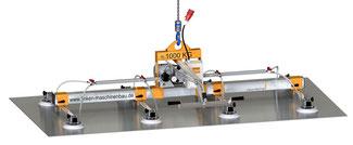 Finken Vakuumheber VH 8-1000 für den horizontalen Transport von luftdichten Platten und dünnen sowie schweren Blechen, 8 Saugnäpfe, Tragfähigkeit 1000 Kg