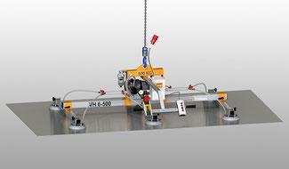 Finken Vakuumheber VH 6-500 für den waagerechen Transport von glatten, luftdichten Platten, Traglast 500 Kg