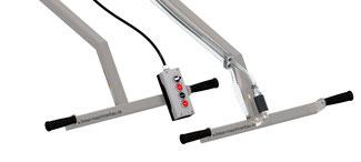Ausstattung für Finken Vakuum Hebegeräte: Komfortsteuerung mit elektrischem Vakuumventil oder extrem robuste Steuerung mit Hanschiebeventil