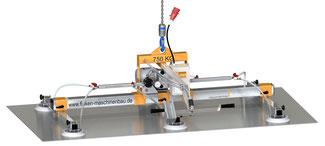 Finken Vakuumhebegerät VH 6-750 für Mittelformatbleche bis 750 Kg mit Handschiebeventil in robuster Ausführung