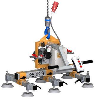 Finken Vakuumheber VH 6-250 mini, besonders kompakte und variable Bauweise mit elektrischer Vakuumpumpe und Komfortsteuerung