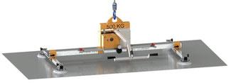 Finken Vakuumheber VH 4-500 DC, Akkubetriebenes Vakuumhebegerät mit robustem, mechanischem Handschiebeventil für relativ eigenstabile Lasten bis 500 Kg Eigengewicht