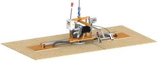Vakuumheber VSPHE 90 3-400 zum horizontalen und vertikalen Transport und das elektrische Schwenken von Spanplatten, MDF-Platten, Gipskartonplatten