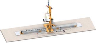 Finken Vakuumheber für Betonplatten bis 1250 Kg, 90° schwenkbar