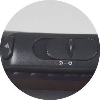 Philips HP8656 ProCare Airstyler Temperatur- und Gebläsestufen