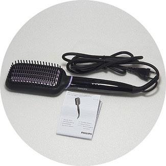 Philips Haarglätter-Bürste Verpackungsinhalt