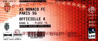 Ticket  Monaco-PSG  2013-14
